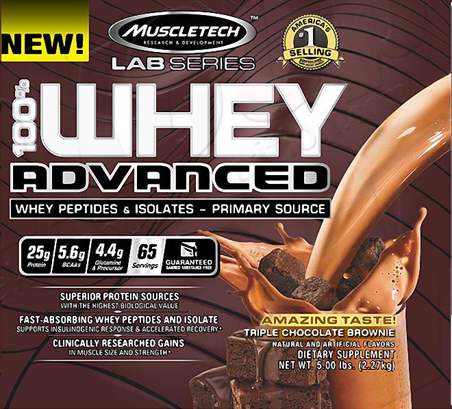 MUSCLETECH 100% Whey Advanced