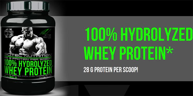 SCITEC 100% Hydrolyzed Whey Protein