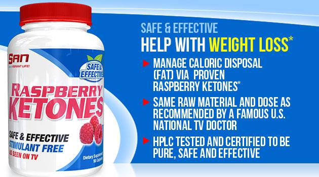 SAN Nutrition Raspberry Ketones