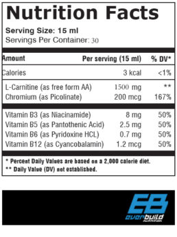 Liquid L-Carnitine+Chromium fact
