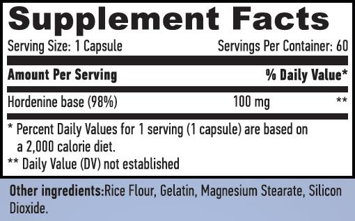 Haya Labs Hordenine 98% fact