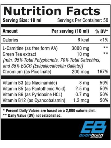 liquid carnitine 3000 greentea