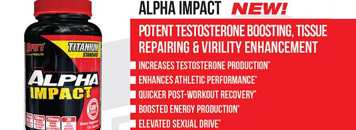 SAN Alpha Impact - тестостеронен бустер от ново поколение