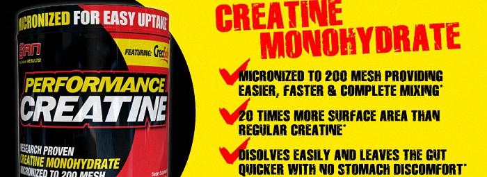Performance Creatine - микронизираната креатинова бомба