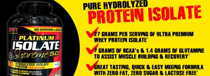 PLATINUM ISOLATE SUPREME – най-качественият протеин на пазара