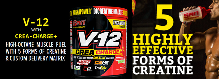 V-12 Crea Charge+ - новият креатинов подарък от SAN