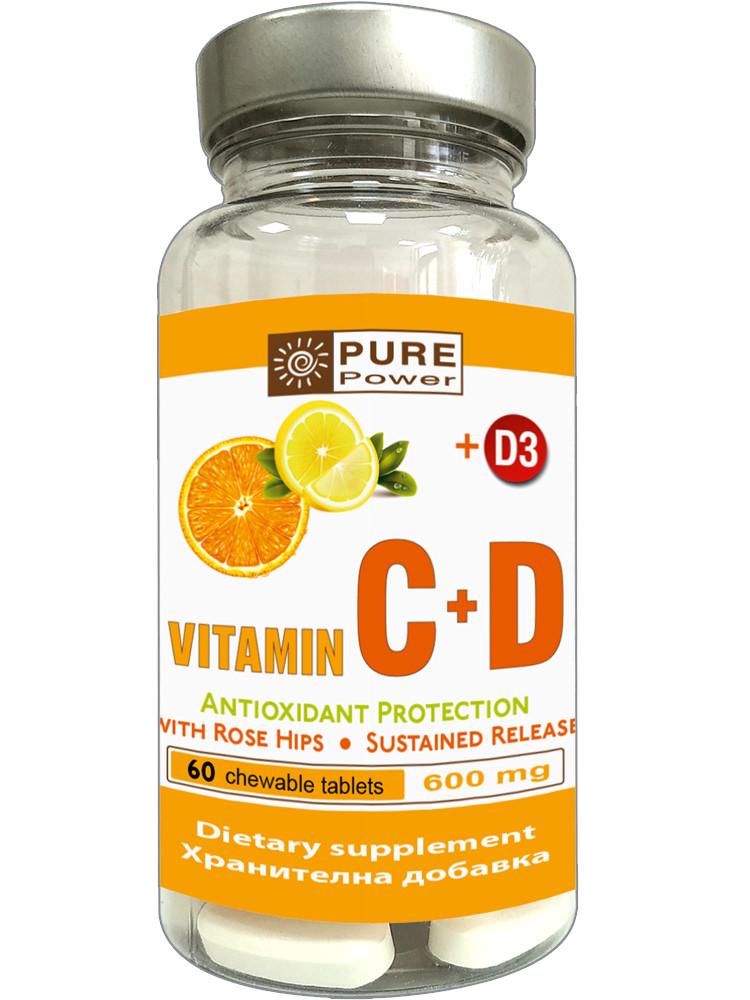 Vitamin C+D - дъвчащи таблети със забавено освобождаване