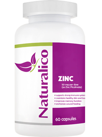 Naturalico ZINC - 50 mg цинĸ пиĸoлинaт ( Zinc Picolinate)