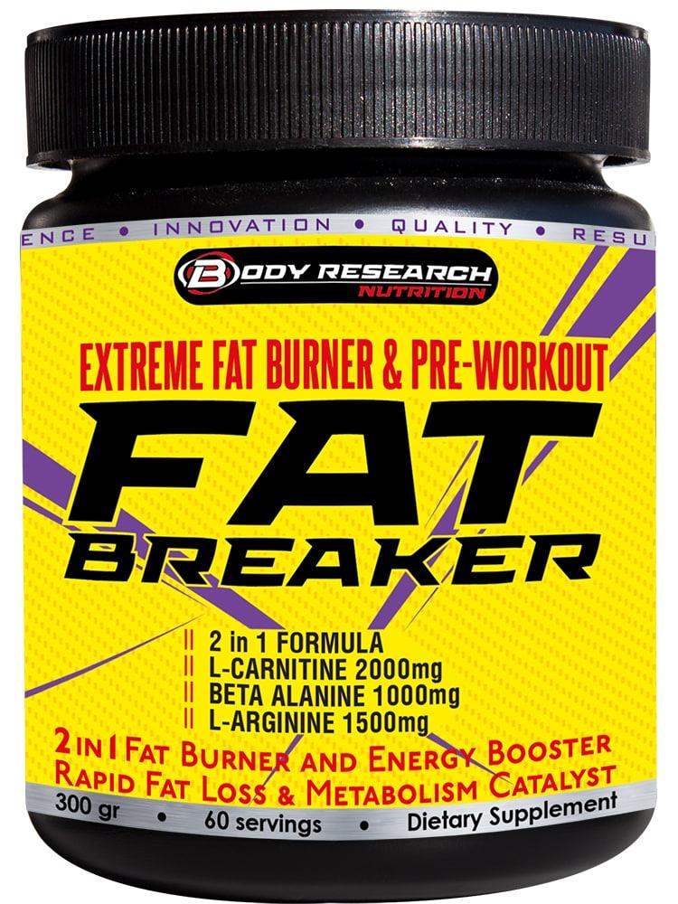 Body Research FAT BREAKER - 2в1 фетбърнър и предтренировъчен