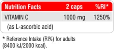 Fit & Shape Vitamin C 1000 facts
