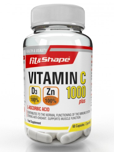Fit & Shape Витамин С 1000 + вит. D3 + Цинк