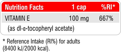 Fit & Shape Vitamin E - Витамин Е facts